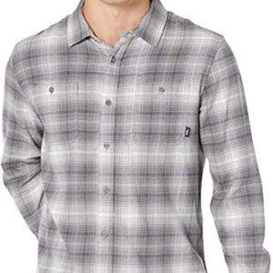 VANS BNWT shirt long sleeve sz Medium gray flannel